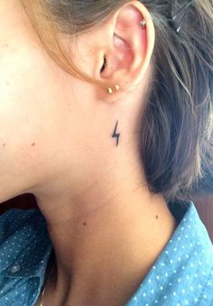 Little Lightning Bolt - Delicate Minimalist Tattoos That Exude Understated Elegance - Photos