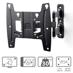 """one for all wm4250 support tv mural orientable jusqu'à 42"""" - support mural, prix pas cher - Cdiscount"""