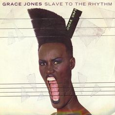 Jean-Paul Goude, cover for the Grace Jones album Slave to the Rhythm, 1985. The slice technique was a signature of Goude.