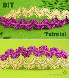 Wavy Flower Lace Bracelet Tutorial #Wavy #Flower #Lace #Bracelet #Tutorial http://youtu.be/7jRFKGWOFv8