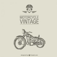 Retro motorcycle vector Free Vector