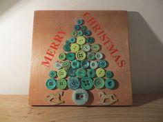 Merry Christmas Button Art.
