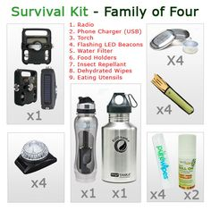 Family Survival Food Kits Learn how to survive any situation at dansdepot.com