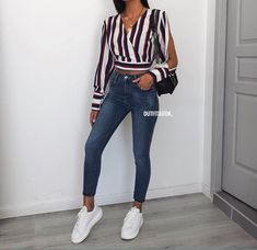 outfits ideas to 2019 casual fashion springs summer outfits and womens fashion trendy outfits Fashion Mode, Teen Fashion, Fashion Outfits, Womens Fashion, Stylish Summer Outfits, Spring Outfits, Casual Outfits, Denim Outfit, College Outfits