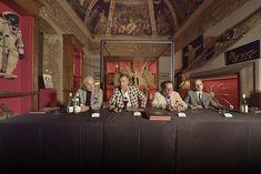 Press conference at @theatrummundi_arezzo with Luca Cableri, Roberto Baciocchi, @daverio_philipe & Simone Zacchini. #theatrummundi #wunderkammer #cabinetofcuriosities #pressconference #lucacableri