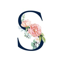 Buchstabe - Letter S a letra Flower Wallpaper, Wallpaper Backgrounds, Iphone Wallpaper, Floral Backgrounds, Monogram Alphabet, Alphabet Art, Letter S Calligraphy, Alphabet Wallpaper, Floral Letters