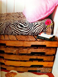 Pallets turned bed/nook.