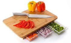 One Stop Chop Cutting Board :: ThinkGeek $40