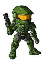 Chibi Halo 4 Chief by GuyverC