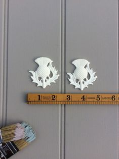 10x Cutout Antler Craft Shapes MDF Wood Embellishments Art Shabby Decoration