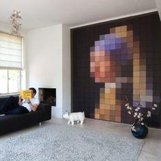 Iets origineels aan de wand? Dan ben je bij ixxi absoluut aan het juiste adres. Hier de pixel van Meisje met de Parel...
