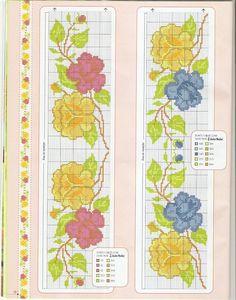 ponto-cruz-flores-9-500x400 78 gráficos de flores em ponto cruz para imprimir