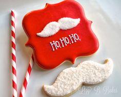 Lizy B: Santa's Mustache Cookies!
