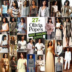 Cosmopolitan Magazine has listed the top 27 outfits worn by Olivia Pope. Which one is your favorite?