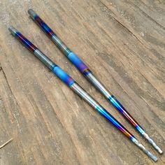 Modular Titanium Chopsticks - Solid titanium in a two piece design for easy carry. #TiSurvival #Titanium #EDC #Sushi