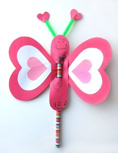 Butterfly Pencil Valentines. Valentines Days Ideas #Valentines, #pinsland, https://apps.facebook.com/yangutu