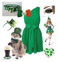 Senza titolo #91 by alessandra-salis on Polyvore featuring polyvore fashion style Dry Lake Pier 1 Imports st. patrick ireland green