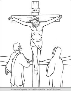 Mysteries Archives - The Catholic Kid - Catholic Coloring Pages and Games for Children Jesus Coloring Pages, Fish Coloring Page, Easter Colouring, Coloring For Kids, Adult Coloring, Bible Story Crafts, Bible Stories, Good Friday Crafts, Easter Story