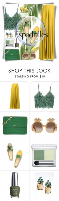 """""""Espadrilles"""" by pink1princess ❤ liked on Polyvore featuring Elie Saab, MANGO, DKNY, Gucci, Tory Burch, RMK, OPI and Banana Republic"""