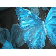 I will paint you cyan blue turquoise morpho butterflies or any other... ❤ liked…
