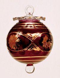 Blown Glass Christmas Ornament :  Peace