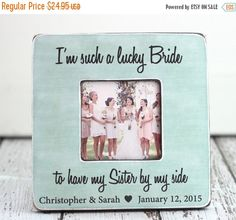 SALE Sister Bridesmaid Maid of Honor by PhotoPhilosophyShop
