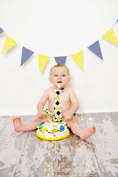 Items similar to Baby Necktie and Diaper Cover Set: Navy and Yellow Argyle on Etsy 1st Birthday Photos, Baby Boy Birthday, Birthday Fun, 1st Birthday Parties, Birthday Ideas, Cake Smash Photography, Birthday Photography, Cake Smash Photos, Baby Boy Shower