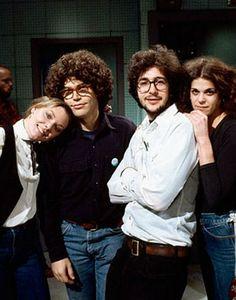 Jane Curtin, Al Franken, Tom Davis and Gilda Radner.