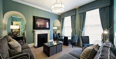 Flemings Mayfair Hotel, 2 bed apartment designed by Suna Interior Design
