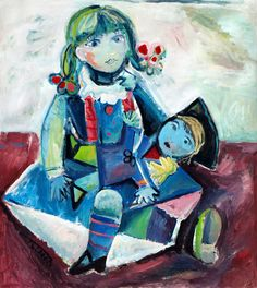View Dolls by Catalin Ilinca. Inspired by Maya with her Doll, 1938 by Pablo Picasso. Browse more art for sale at great prices. New art added daily. Buy original art direct from international artists. Shop now