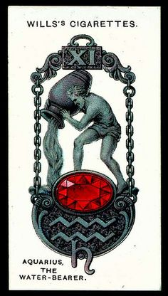 Cigarette Card - Aquarius, The Water Bearer | Flickr - Photo Sharing!