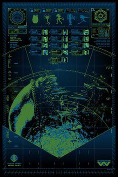 Aliens Sonogram Poster—Anthony Peteski—UI—Texture