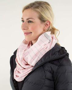 Vinyasa Scarf in pretty pink slalom stripe /grey