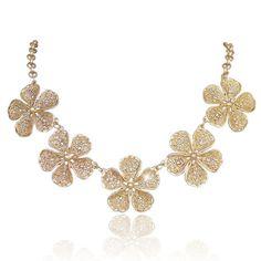 Swarovski Crystal Statement Necklace Beaded by MiumiuJewelry