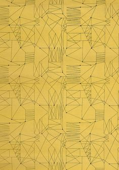 """Graphica"" is a furnishing fabric sample from British textile design maven Lucienne Day for Heal's. 1954, from The Fifties. Pattern design"
