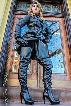 leather thigh high boots, over the knee boots, high - rize boots, high fashion thigh boots, black leather thigh high boots, long boots, brown leather thighboots, quality leather Leviticus Fashions