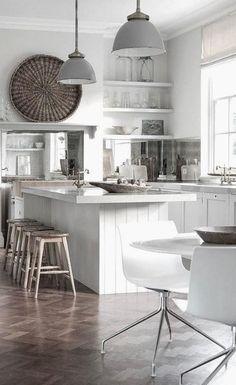 rustic-modern mix kitchen -- this is it! My dream kitchen! Kitchen Inspirations, Beautiful Kitchens, Kitchen Remodel, Kitchen Decor, New Kitchen, House Interior, Kitchen Dining Room, Home Kitchens, Modern Kitchen Design