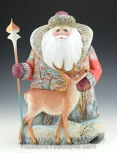 Wilderness Santa and Deer