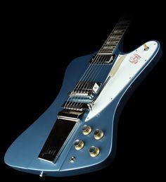 Gibson Firebird Pelham Blue turns green as it ages.