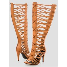 Ashley Stewart Tall Gladiator Sandal - Wide Width Wide Calf ($70) ❤ liked on Polyvore featuring shoes, sandals, lace-up sandals, greek sandals, high-heel gladiator sandals, high heel shoes and stiletto sandals