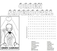 Sopa De Letras Sacramentos De Servicio Seven Sacraments, Sunday School, Prayers, Education, Crafts, Printables, Blog, Kids Prayer, Teaching