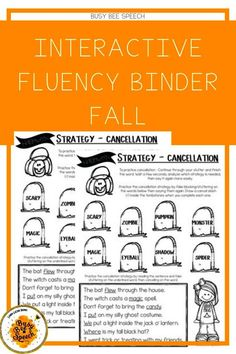 Interactive Fluency Binder for the Fall Season
