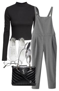 """Untitled #809"" by strangebirdd ❤ liked on Polyvore featuring H&M, WithChic, Prada, Yves Saint Laurent and Iosselliani"