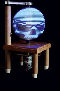 This isn't your typical schoolroom globe... Create a Persistence-of-Vision LED Globe to display a map, a skull, or message.