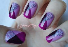 Glitter Tips #nail #nails #nailart