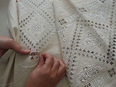 Lefkara lace - We visited Lefkara while in Cyprus.  I have some lace from there.  It's beautiful!