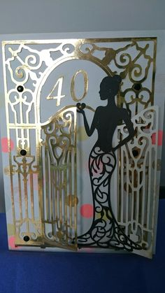 Tattered lace ornate gate and Olivia lady birthday card. 60th Birthday Cards For Ladies, Art Deco Cards, Baby Boy Cards, Crafters Companion Cards, Tattered Lace Cards, Homemade Greeting Cards, Paper Butterflies, Cricut Cards, Easel Cards