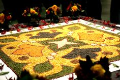 Rangoli using Pulses and Cereal grains