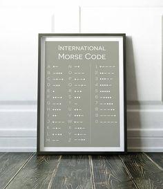 Morse Code Poster, Morse Code Print, Wall Art Print, Wall Art, Morse Code, Minimalist Wall Art, Prints, Minimalist Print, Modern Art