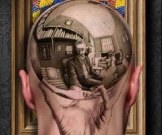 Escher on the back of a head